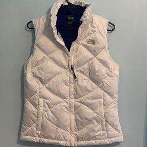 North face 550 white puffy vest